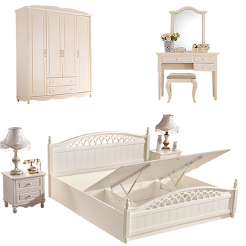 White Latest Wooden Double Bed Designs Furniture with Hydraulic Lift up  Storage Box. White Latest Wooden Double Bed Designs Furniture With Hydraulic
