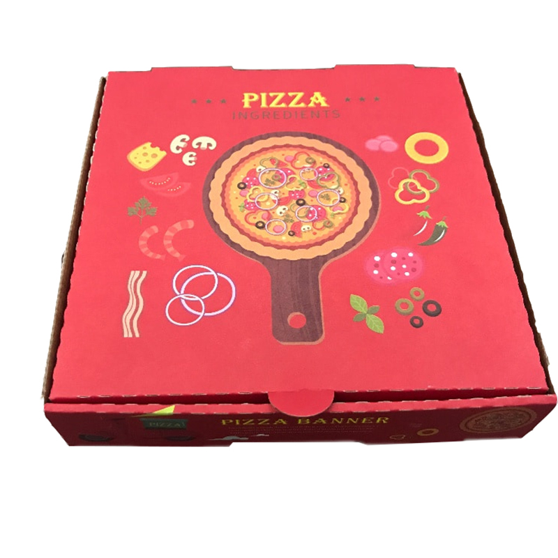 2019 New Design Cheap Carton Pizza Box Wholesale,Corrugated Pizza Box,Pizza Delivery Box Cartons Manufacturing
