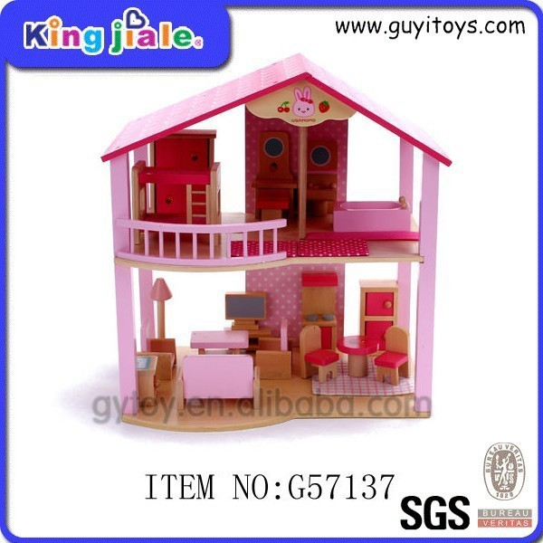 Factory supply attractive price doll house wood