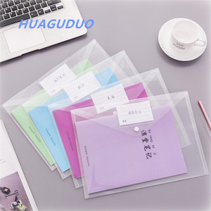Vietnam best selling pictures of stationery items office simple fashion clear PVC a4 document bag cheap wholesale pp file folder