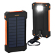 Portable Dual USB Solar Battery Fast Charger External Battery Pack, Solar phone charger