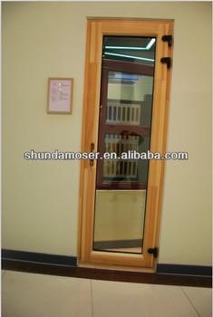 Moser Aluminum Clad Wooden Exterior Double Door Single