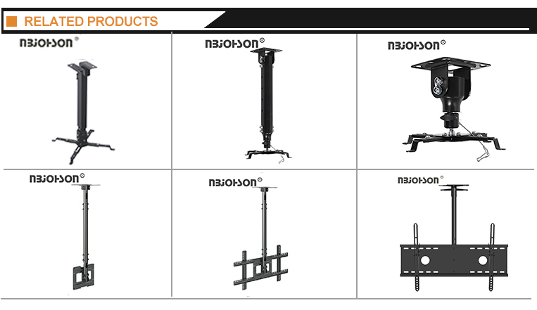 600*400mm adjustable extendable ceiling full motion tv mount