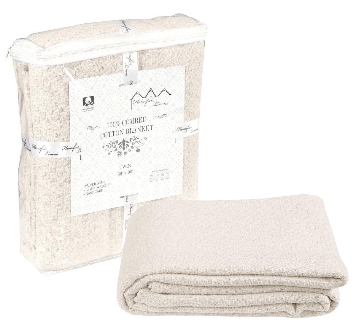 6c780f5c64 Get Quotations · 100% Premium Soft Cotton Blanket - Queen Blanket - Thermal  Blankets - Soft Cozy