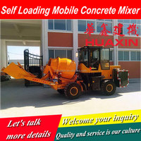 Self Loading Concrete Mixer Truck for building industry