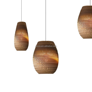 Great Modern Decorative Pendant Lighting Home Smart Lights Recycled Cardboard  Drop Pendant Lighting