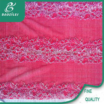 Latest Embroidery Designs Punjabi Suits Textile Lace Trimming Fabric