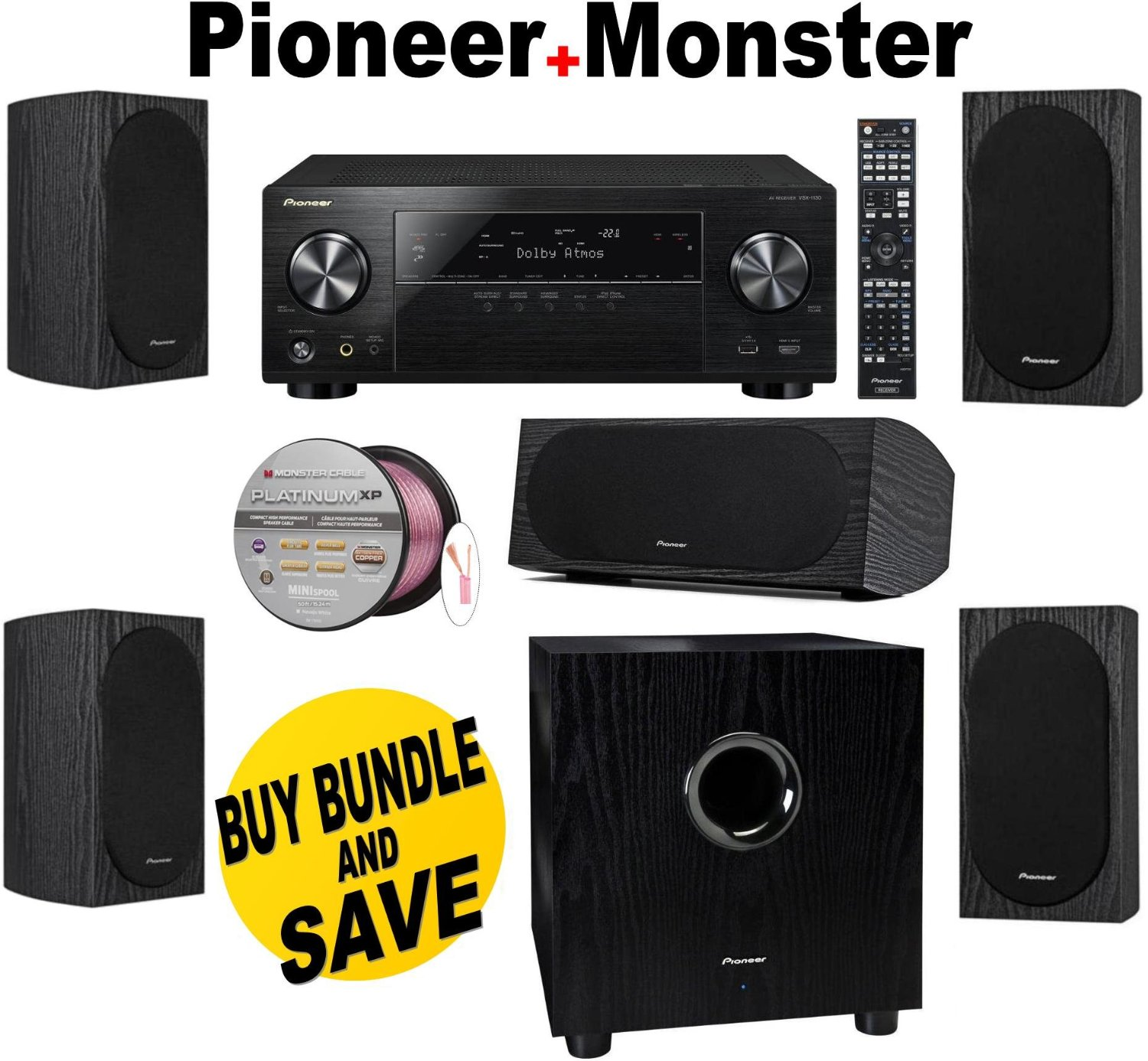 Get Quotations Pioneer VSX 1130 K 72 Channel AV Receiver With Built In Bluetooth