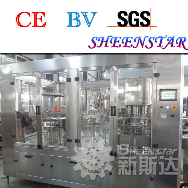 carbonated drink washing filling & capping machine