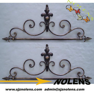 Wrought Iron Ornaments as part of Decorated Metal Gate or Other Artist Designs