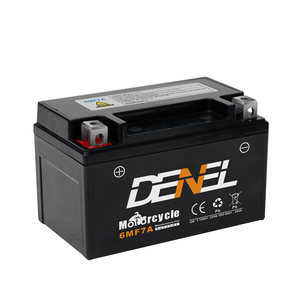 New arrival logo OEM 12v sealed MF motorcycle battery 6mf7a