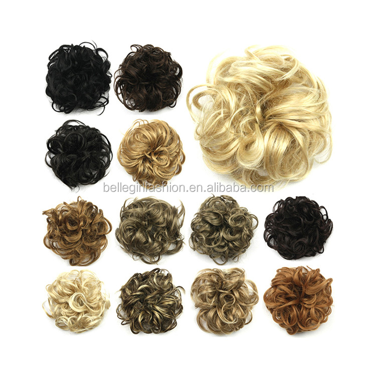 custom fancy elastic synthetic hair scrunchie