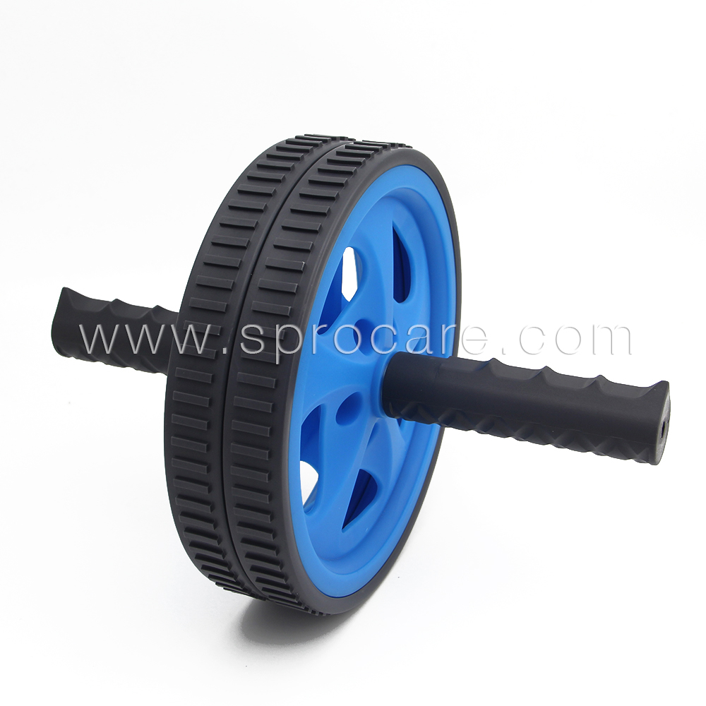 AB Roller Wheel,Dual Wheels Roller,Core Muscle Trainer Exercise Fitness Equipment,Best For Working Abdominal Muscles SP-ABR2