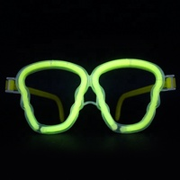 Halloween Party Skeleton Shaped Colorful Glow In The Dark Glasses
