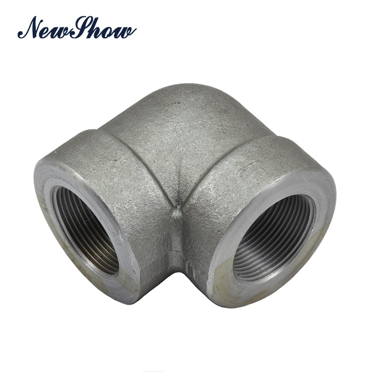 JIS standard SUS304 BSP threaded 90 degree straight elbow made in Dalian