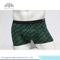 Customize comfortable mens underwear boxer shorts 100% Cotton knit underwear