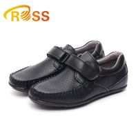 Boy Party Dance School Shoes Black PU Flat Shoes Hollow Out in Summer