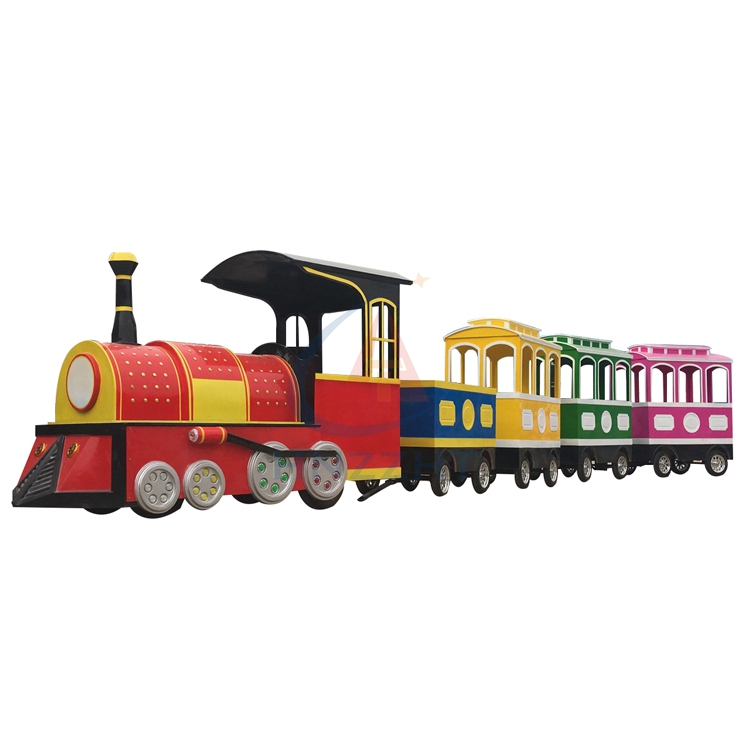 Led light trackless train tourist for park road, trackless train battery operated in mall for sale
