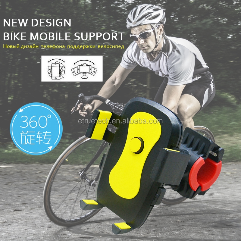 Custom Logo Bike Phone Holder For Smart Mobile Cell Phone Holder Bike Handlebar Mount Bracket GPS Stand Bicycle Phone Holder