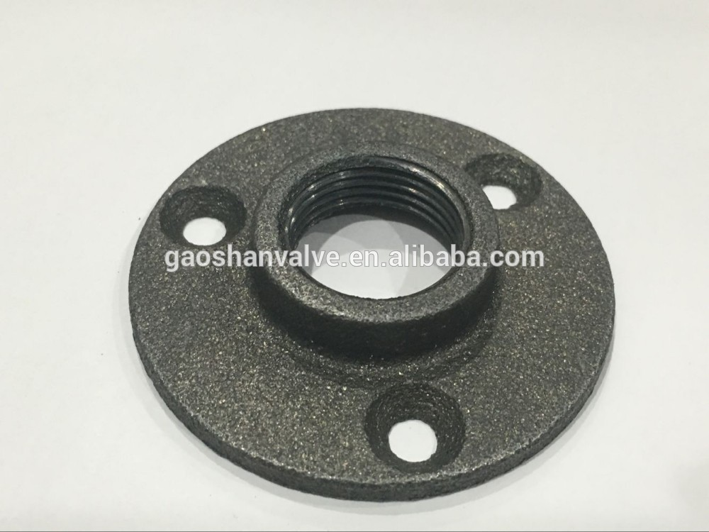 Quot black cast iron pipe fitting floor flanges buy