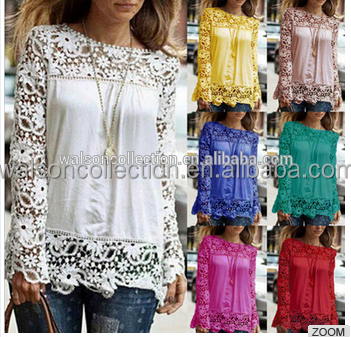 08c2a72b6f3 Womens Large size women s clothing 2017 autumn winter lace blouse clothes  tops long sleeve printing lady