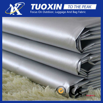 300T nylon blackout curtain fabric/car cover silver pastebrushing fabric