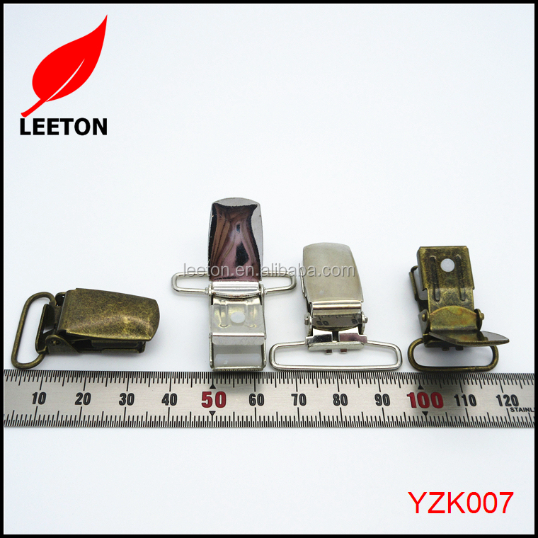 2016 Strong metal suspender clip for Military suspender belt