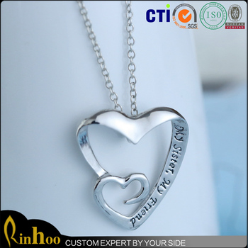 Novel the two beautiful sister heart shaped necklace everlasting novel quotthe two beautiful sisterquot heart shaped necklace everlasting sister pendant necklace mozeypictures Image collections