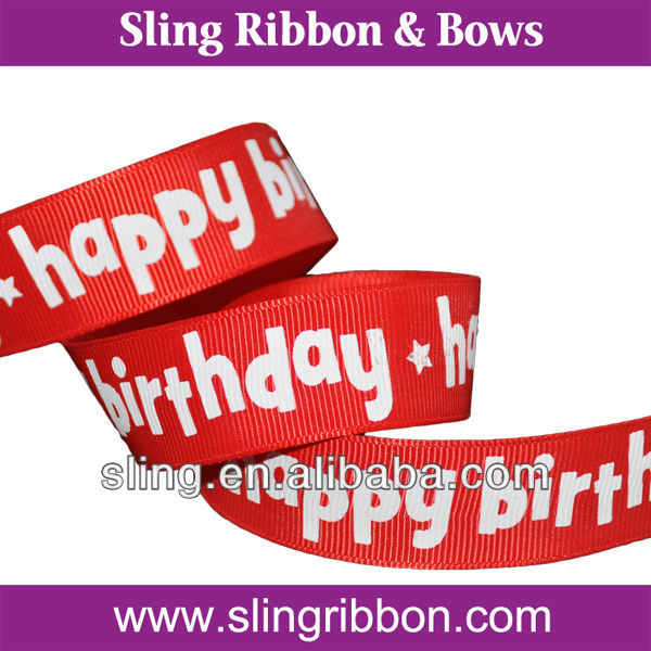 5/8 Happy Birthday Parte Cake Candles Decorative Ribbon
