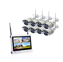 Großhandel DIY 2MP 12,5 Inch lcd monitor Wifi NVR 1080 P Outdoor 8CH <span class=keywords><strong>Home</strong></span> Security Camera System <span class=keywords><strong>Wireless</strong></span>