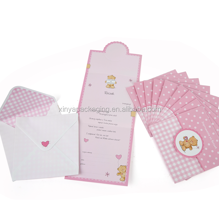 XINYA Chinese Factory Bulk Printable Diy Happy Birthday Gift Greeting Cards For Friend