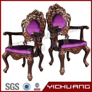High class and charming antique hand carved wood chairs YC-K02-4