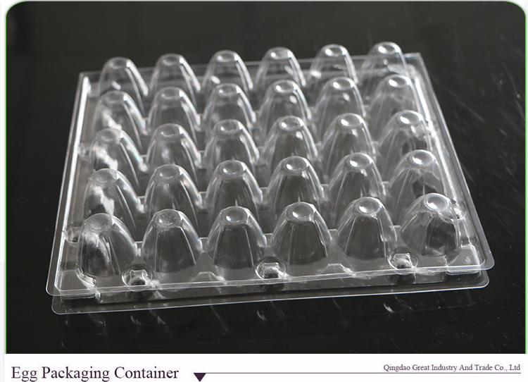 30 Compartments Disposable Blister Plastic Quail Egg Tray With High Quality