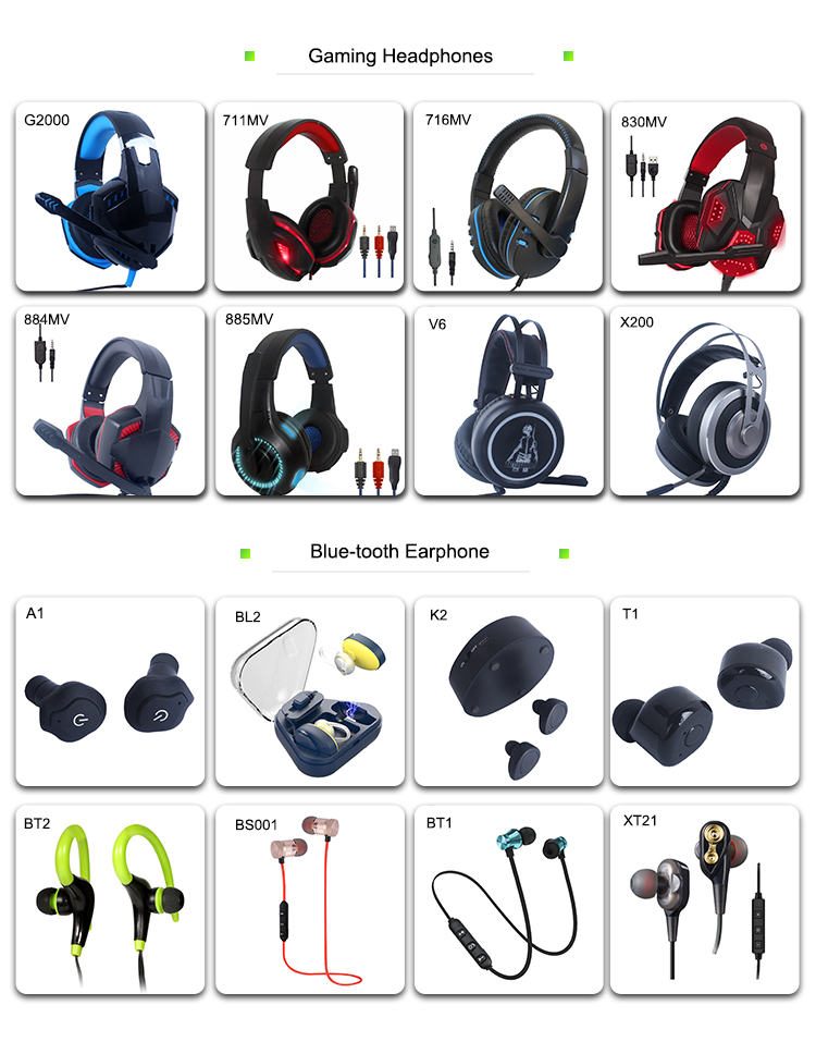 Professional Gaming Headsets USB Wired Stereo Over Ear Headphones With RGB Colorful LED Light