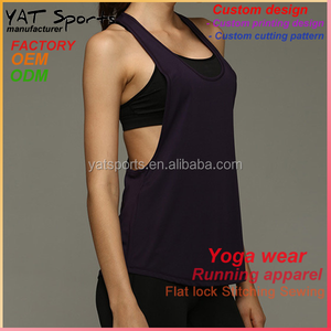 Design your own sports bra tank tops Custom design Y back women gym top