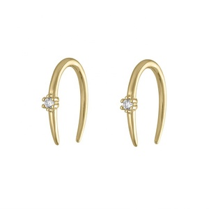 925 silver jewelry gold minimalist diamond earrings design with price