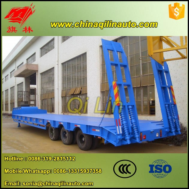 2015 Low price 60Ton lowboy semi trailer dimensions for sale