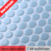 Backsplash choices instant self sticking adhesive wall tile sheet penny circle mosaic design