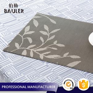 Top Quality New Design Jacquard Woven Vinyl PVC Table Plate Mat