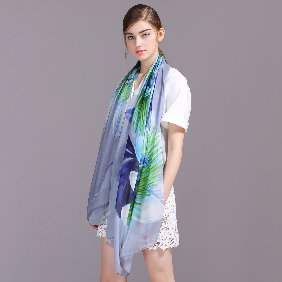 9bbe02e4af24 Chiffon Scarf Women 100 Pure Square Twill Silk Scarves - Buy Scarf ...