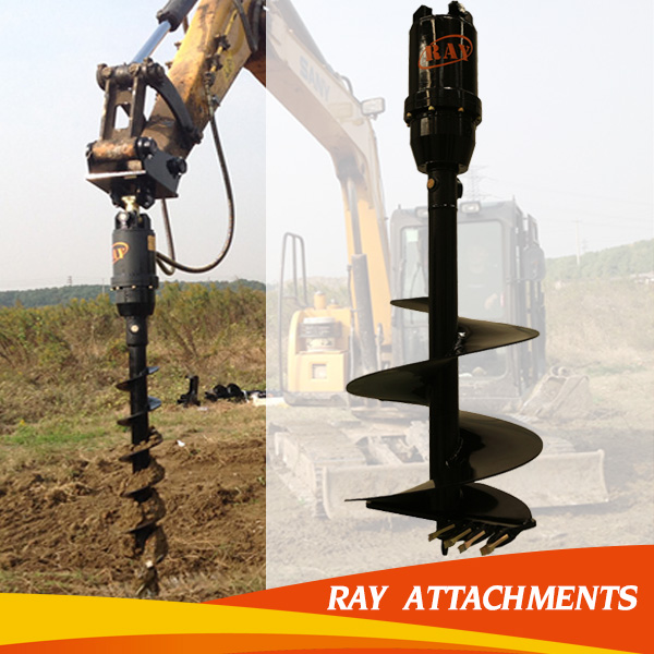 good quality hydraulic drilling pile machine for auger head
