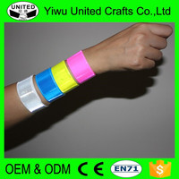 CE EN 71 custom promotional gifts blank custom reflective wrist band