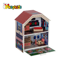 2016 wholesale kids toy wooden small house,role play baby toy wooden small house,popular children toy wooden small house W06A143