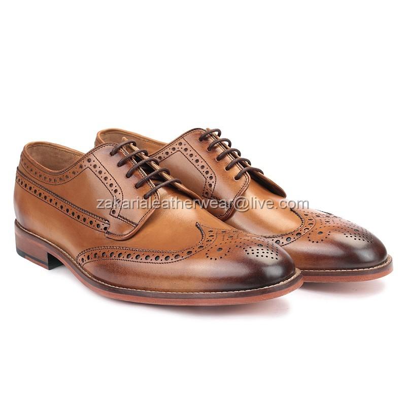 Dress Leather Shoes Handcrafted Men Oxford Stylish qwxpfgI