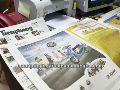 Big sizes and Folded Newspaper printing services