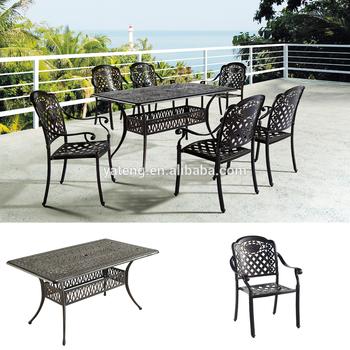Popular Anodized Aluminum Outdoor Furniture Cast Aluminum Mesh Patio  Furniture