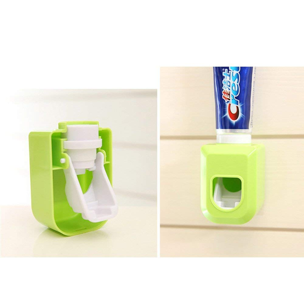 Amapower Wall Adhesive Multi-Function Machine Automatic Bathroom Household Toothbrush Holder Toothpaste Squeezer