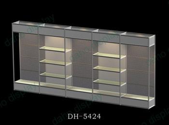 Estrusione di alluminio stand fiera display portatile scaffali per