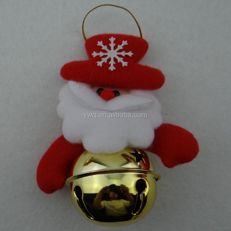 plush santa with musical bell