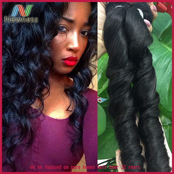 Hot New Products For 2016 Roman curl 24 inch virgin remy brazilian hair weft